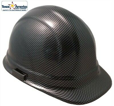 NEW! Hydro Dipped Cap Style HardHat w/ Ratchet Suspension - Carbon Fiber Design