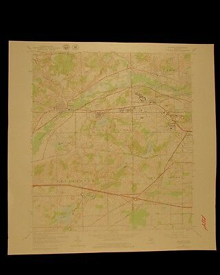 Augusta Michigan vintage 1979 original USGS Topographical chart