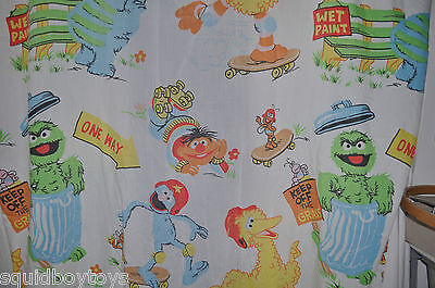 SESAME STREET vintage FITTED BED SHEET 1980s MUPPETS