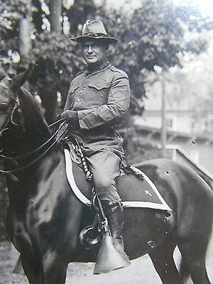 Id'ed Chaplain 1st NYNG mounted real photo postcard