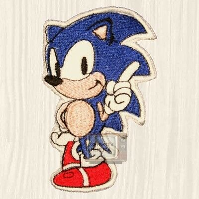 Sonic Logo Embroidered Patch The Hedgehog Sega Genesis Tails 4 Knuckles Finger