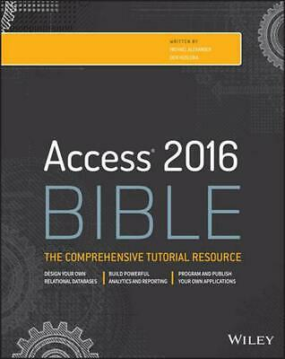 Access 2016 Bible by Michael Alexander (English) Paperback Book Free Shipping!
