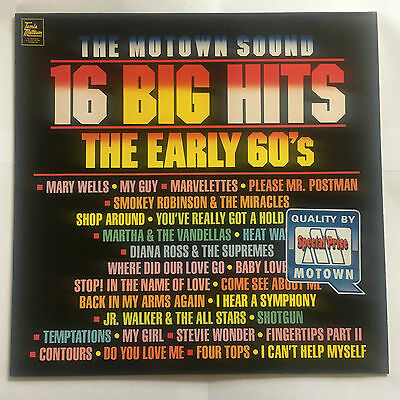 Various ArtistsThe Motown Sound 16 Big Hits The Early 60S Unplayed MINT LP VINYL