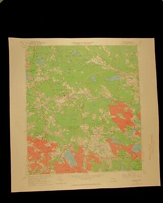 Reading Massachusetts vintage 1968 original USGS Topographical chart