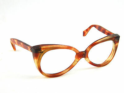 Vintage Willson USA Women's Amber Tortoise shell Eyeglasses Frames Only 5-3/4""