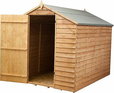Mercia Wooden Garden Overlap Apex Shed - 8 x 6ft -From the Argos Shop on ebay