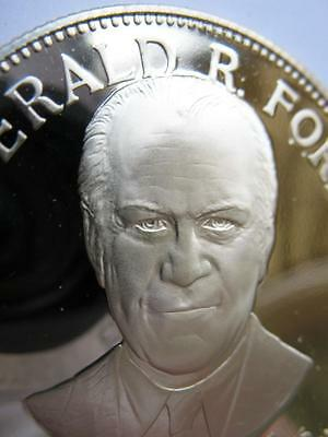 1-Oz .925 38Th President Gerald R Ford Sterling Silver Coin + Gold