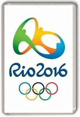 Rio 2016 Olympics Games logo Fridge Magnet 01