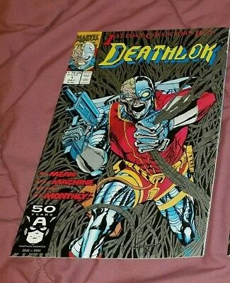 1991 MARVEL Deathlok #1 silver cover NM+ UNREAD FREE SHIPPING Agents of SHIELD