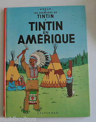 TINTIN : EN AMERIQUE BD French Comic Book HERGE Casterman