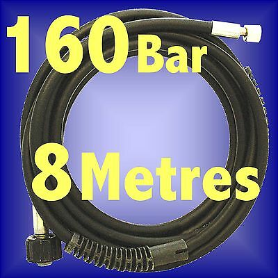 SILVERLINE 8 METRE JET POWER WASHER HIGH PRESSURE HOSE 160Bar KINK RESISTANT 8m