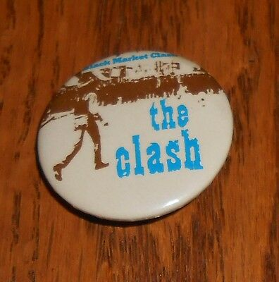 The Clash Super Black Market Clash Button Pin Original Promo 1 1/4""
