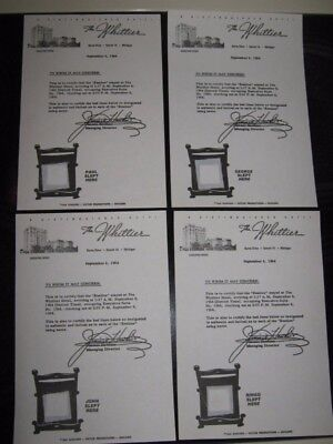The Beatles Whittier Hotel Complete Set ( 4 ) Bed Sheets From 1964 Stay