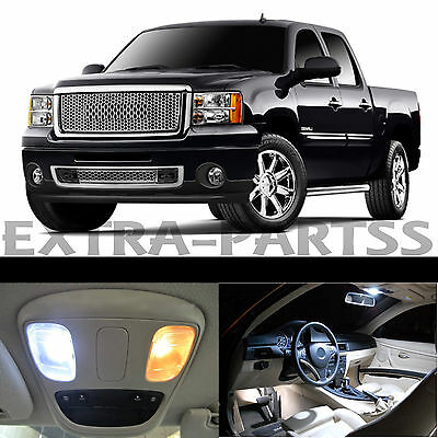 14x White Interior LED Lights Package Kit Dome Map US for 2007-2013 GMC Sierra