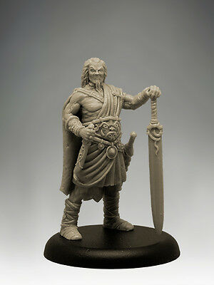 BARBARIAN CHIEFTAIN 35mm Scale RESIN Black Sun Miniatures
