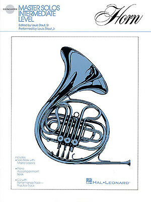 Master Solos for French Horn Sheet Music Book Piano CD Hal Leonard NEW