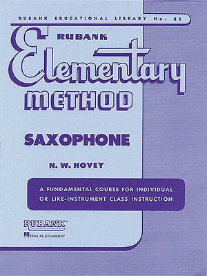 Rubank Elementary Method Saxophone Beginner Music Lessons Studies Sax Book NEW