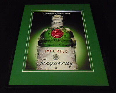 1993 Tanqueray Gin Framed 11x14 ORIGINAL Advertisement