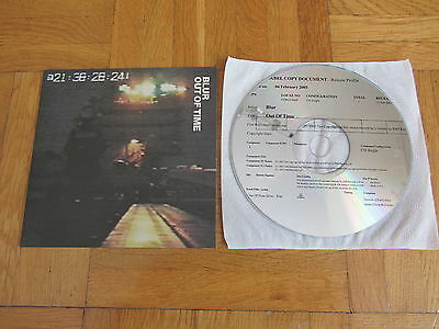 BLUR Out Of Time 2003 UK Promo CD single