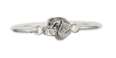 Brittany Dog Bracelet Handmade Sterling Silver Dog Jewelry BR1-HB
