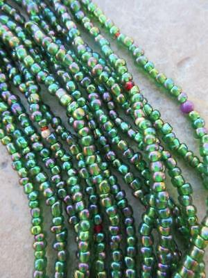 African Glass Beads -6 Strands [65374]