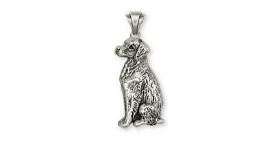 Brittany Dog Pendant Handmade Sterling Silver Dog Jewelry BR2-P