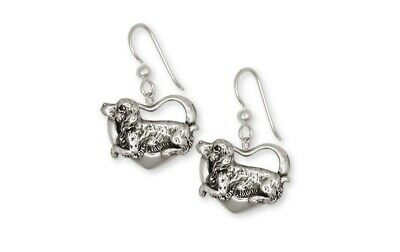 Brittany Dog Earrings Handmade Sterling Silver Dog Jewelry BR3-E