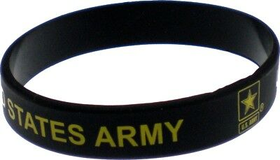 United States Army Star Silicone Rubber Wristband Bracelet