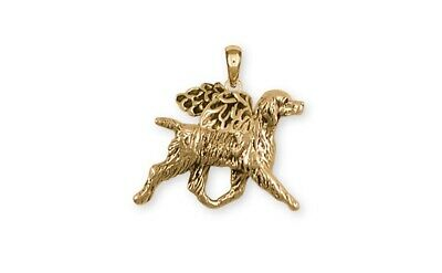 Brittany Dog Pendant 14k Yellow Gold Vermeil Dog Jewelry BR6-APVM