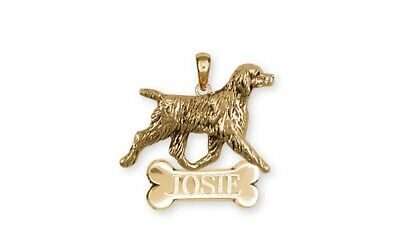 Brittany Dog Personalized Pendant Handmade 14k Gold Dog Jewelry BR6-NPVM