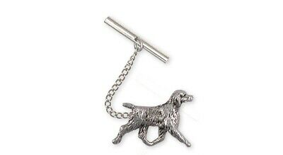 Brittany Dog Tie Tack Handmade Sterling Silver Dog Jewelry BR6-TT