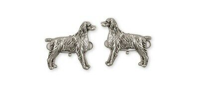 Brittany Dog Cufflinks Handmade Sterling Silver Dog Jewelry BR7-CL
