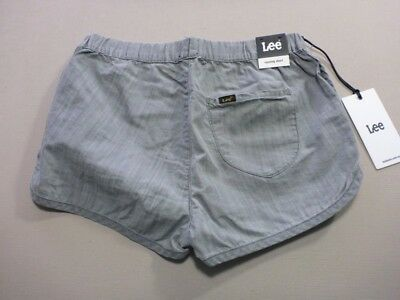 096 Womens Ex-Cond Lee Running Char Wash Cheeky Shorts Sze 10 $70 Rrp.