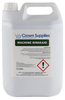 5 Litres Of Professional Premium Rinse Aid For Glass/dishwash