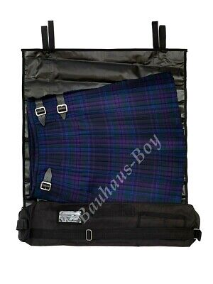 The Kilt Roll Carrier Black With Shoulder Strap For Kilt Highlandwear Travelcase