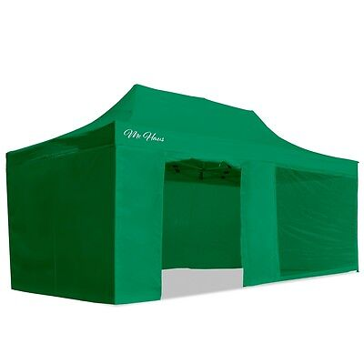 Carpa plegable jardín 3x6 color verde Mchaus carpa para eventos fiestas 3x6
