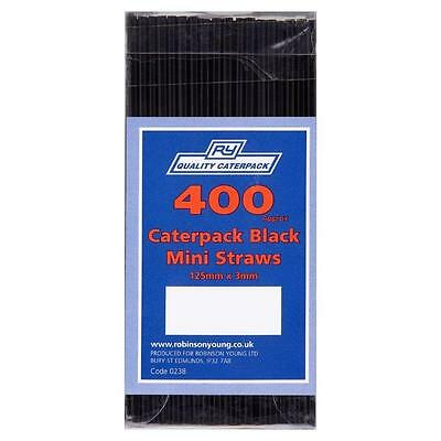 Crown Supplies Sip Straws Black - Pack of 400