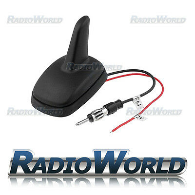 FM / AM Car Aerial Shark Fin Style Amplified Antenna DIN Universal OEM