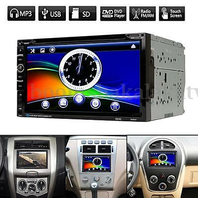 "7"" Double 2DIN In Dash Car Stereo DVD CD Player USB SD Bluetooth FM Radio"