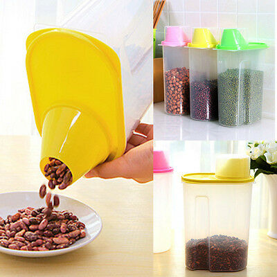 1.9/2.5L Kitchen Food Cereal Grain Bean Rice Plastic Storage Container Box YG