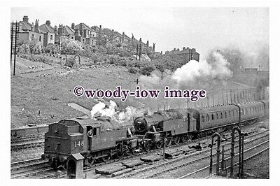 bb1148 - LMS Railway Engines 148 & 2681 at Cricklewood , Middx 1948 - photograph