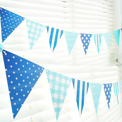 12pcs Birthday Party Garland Outdoor House Decorative Triangle Flags Banner