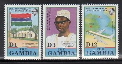 Gambia 985-87 Independence Anniversary Mint NH