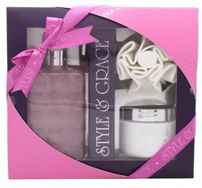 Style & Grace Luxury Retreat Gift Set - 500Ml Luxury Bath Cream + 170Ml Body But