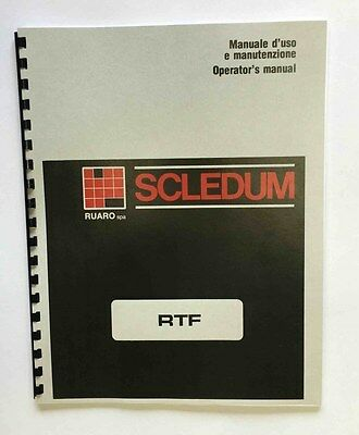 Scledum Model RTF Head and Block Surfacer Manual