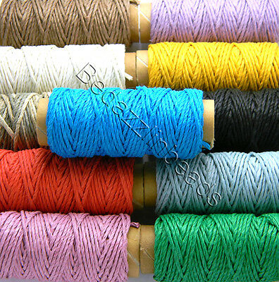 29 Feet 0.50mm Thin Polished Smooth Hemp Bead Cording Thread with 10 Pound Test