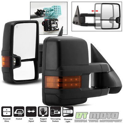 Left+Right 03-06 Silverado Sierra Telescoping Power+Heated+LED Signal Tow Mirror
