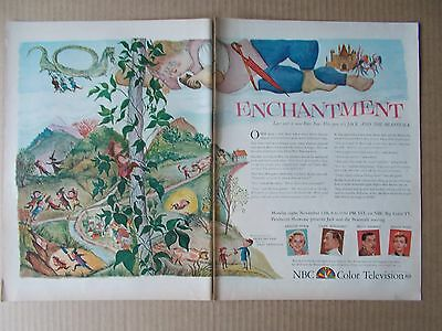 Jack And The Beanstalk / Nbc Big Color Tv 1956 Vintage Magazine Ad  Inv#289