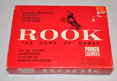 ROOK Parker Brothers CARD GAME 1960s Complete