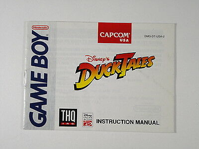 ¤ Duck Tales ¤  (MANUAL ONLY) Good! Game Boy GBA